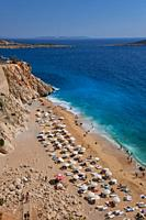 The number one beach in Turkey, Kaputas beach in turquoise coast.