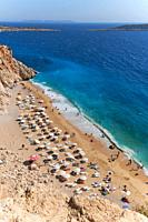 The number one beach in Turkey, Kaputas beach in turqouise coast.