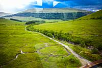 Travel in train from Fort Willians to Glasgow, West Higland, Scotland, United Kingdom, Europe.