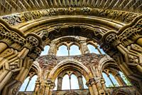 Jedburgh Abbey, a ruined Augustinian abbey, Jedburgh, is one of the four great abbeys established in the Scottish Borders in the 1100s. David I found...