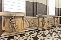 Farnese excavations, The Reliefs from the Hadrianeum or Temple of Hadrian, Archaeological Museum of Naples, Naples city, Campania, Italy, Europe.