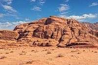Rocks in Wadi Rum valley also called Valley of the Moon in Jordan.