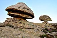 Rocky area near Cabeza Arcon, Bustarviejo, Madrid, Spain.