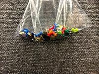 coloured bubble head pins