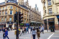 Renfield street, Glasgow city center, Scotland, United Kingdom, Europe.