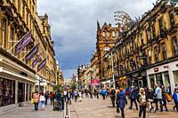 Buchanan Steet, shopping district, Glasgow city center, Scotland, United Kingdom, Europe.