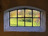 Window at garden in Scania, Sweden, Scandinavia.