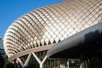Singapore, Republic of Singapore, Asia - View of the Esplanade Theatres (Theatres on the Bay), a performing arts centre located along the Singapore Ri...