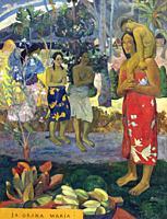 Ia Orana Maria, Hail Mary, Paul Gauguin, 1891, Metropolitan Museum of Art, Manhattan, New York City, USA, North America.