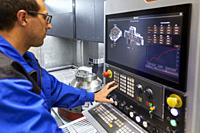 Control center, Construction of machine tools, machining centre, CNC, Vertical turning and Milling lathe, Metal industry, Gipuzkoa, Basque Country, Sp...