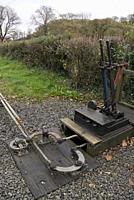 Capel Bangor station along the Vale of Rheidol traditional steam train service in Aberystwyth,Ceredigion,Wales,UK.
