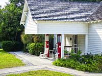 Baileys General Store in the Sanibel Historical Museum and Village on Sanibel Island on the southwest coast of Florida in the Unted States.