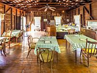 Interior of Miss Charlottas Tea Room in the Sanibel Historical Museum and Village on Sanibel Island on the southwest coast of Florida in the Unted Sta...