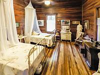 Interior of the Rutland House in the Sanibel Historical Museum and Village on Sanibel Island on the southwest coast of Florida in the Unted States.