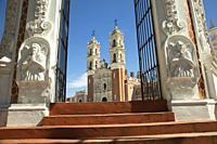 View to the Santuario y Basilica De La Virgen De Ocotlan church in Tlaxcala town, Tlaxcala State, Mexico, Central America.