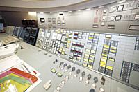 Operator in the control room in Forsmark nuclear power plant.