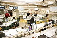 Operators in the control room in Forsmark nuclear power plant.