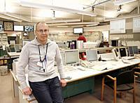 Forsmark kärnkraftverk. Johan Gestberg är chef för skiftet. . Photo: André Maslennikov.