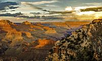 Sunset Yaki point Grand Canyon.
