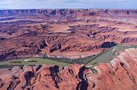 Aerial View, Canyonlands National Park, Utah, Usa, America.