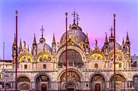 Saint Mark's Basilica Venice Italy. Church created 1063 AD to House Saint Mark's body.
