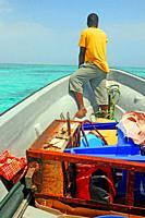Boatman, Unguja Island, Kizimkazi, Zanzibar