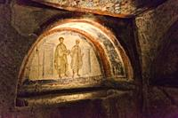Catacombs of Saint Gaudiosus are underground paleo-Christian burial sites, Santa Maria della Sanità, church, Rione Sanità, Naples city, Campania, Ital...