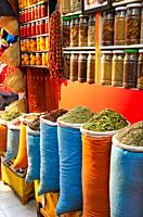 Spices, Herbalism, Medina de Marrakech, High Atlas, Morocco