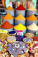 Spices, Souk, Medina de Marrakech, High Atlas, Morocco