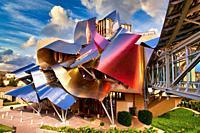 Marques de Riscal Hotel, designed by architect Frank Owen Gehry, Elciego, Rioja Alavesa, Araba, Basque Country, Spain, Europe