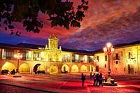 City hall, Plaza de España, Way of Saint James, Camino de Santiago, Santo Domingo de La Calzada, La Rioja, Spain, Europe