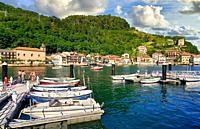 Pasai Donibane, Port of Pasajes, Gipuzkoa, Basque Country, Spain, Europe