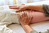 Osteopathy. Osteopath manipulating a patient