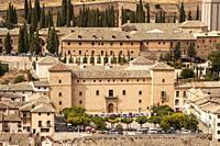 Plaza de la Hora, Ducal Palace, medieval village, PASTRANA, LA ALCARRIA, GUADALAJARA province, CASTILLA-LA MANCHA, SPAIN, EUROPE.