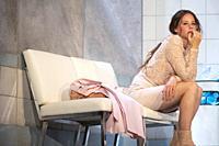 Irene Escolar perform a fragment of Blackbird play at in Madrid, Spain. 30/3/17