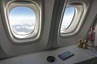 View out of 747-8 Intercontinental Airliner, Siberia, Russian Federation