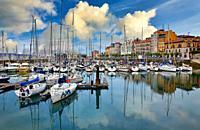 Marina, Cimadevilla, Gijon. Asturias. Spain, Europe