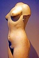 sculpture of woman, Enric Monjo Museum, Vilassar de Mar, Catalunya, Spain