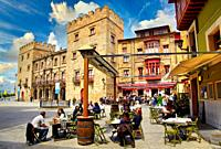 Palacio de Revillagigedo, Plaza del Marqués, Cimadevilla, Gijon. Asturias. Spain, Europe