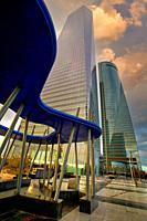 Torre de Cristal y Torre Espacio, CTBA, Cuatro Torres Business Area, Madrid, Spain, Europe