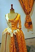 period dress, exhibition in Restauracio, Center d´Art contemporani La Sala, Vilanova i la Geltrú, Catalonia, Spain