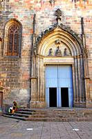 facade of the gothic church of Sant Just i Pastor, Barcelona, ??Catalonia, Spain