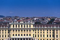 Austria, Vienna, Schonbrunn Palace, Detail Facade. . . .