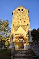 France, Dordogne, Saint-Martin de Besse church (11-12th C).