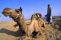 during a safari camping in the Thar Desert, Rajasthan, India 2004.