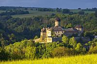 Sovinec castle in Nizky Jesenik, Northern Moravia, Czech republic.