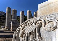 Located between the ridges of Tmolos Mountain and the acropolis of the old Lydia center, this beautiful temple forms the most eye-catching ruins of an...