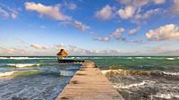Ocean Jetty, Riviera Maya, Mexico.