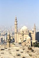 The spires of the sultan Hassan mosque and madrassa, Cairo, Egypt.