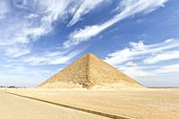 The red pyramid at Dahshur, Egypt.
